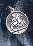 Angel with Dog Pendant Sterling