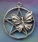Large Butterfly Pentacle 1 1/4 inch diameter