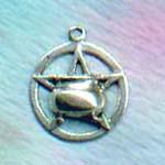 Cauldron Pentacle 5/8 inch diameter