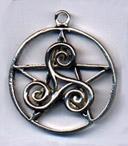 Celtic Triskelion Pentacle 1 1/4 inch diameter