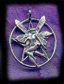 Large Fairy Pentacle 1 1/4 inch diameter