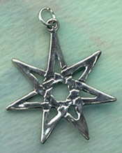 Faery Wicca Star 1 1/2 inches tall