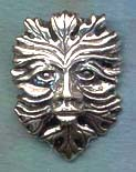 Green Man 1 1/2 inches tall