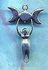 Triple Lunar Goddess 1 1/2 inches tall