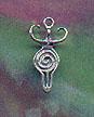 Spiral Goddess 7/8 inch tall