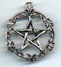 Gothic / Victorian Pentacle 1 1/2 inches tall