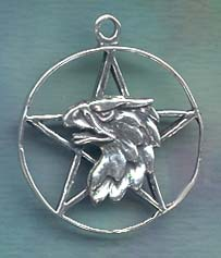 Griffin / Gryphon Pentacle 1 1/4 inch diameter