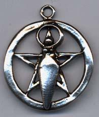 Lunar Goddess Pentacle 1 inch across