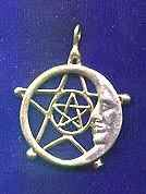 Lunar/Celestial Pentacle 1 3/4 inches tall